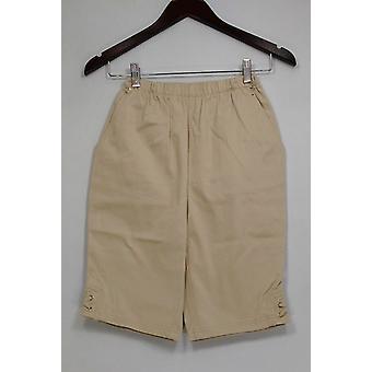 Denim & Co. Shorts Classic Waist Side Lace-Up Bermuda Beige A233552