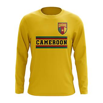 Camerun Core Football Country Long Sleeve T-Shirt (Giallo)