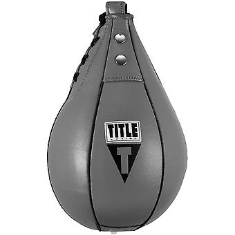 Title Boxing Super Fast Leather Speed Bag - Gray