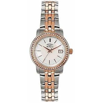 Rotary Womans Two Tone Strap Silver Dial LB90092/41 Watch