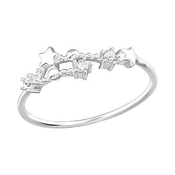 May-Gemini Constellation - 925 Sterling Silver Jewelled Rings - W38593X