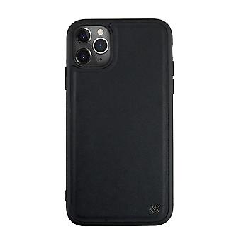 Eco Leather iPhone 11 Pro Case 6ft. Drop Proof Back Shell - Black Olive