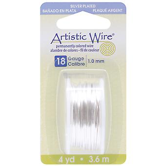 Artistic Wire Dispenser 4 Yards Pkg Silver 18 Gauge Awd18s