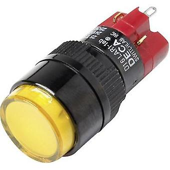 Pushbutton switch 250 Vac 5 A 1 x Off/On DECA D16LAR1-1abJY IP40 latch 1 pc(s)
