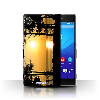 STUFF4 Case/Cover for Sony Xperia Z4/Tropical Trees/Sunset Scenery