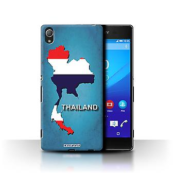 STUFF4 Case/Cover for Sony Xperia Z4/Thailand/Thai/Flag Nations