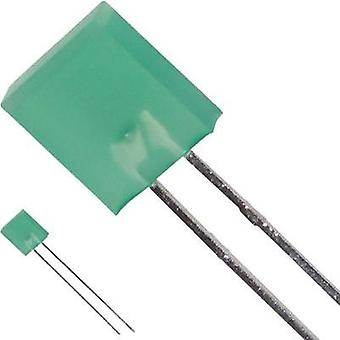 LED wired Green Rectangular 7 x 2.3 mm 9 mcd