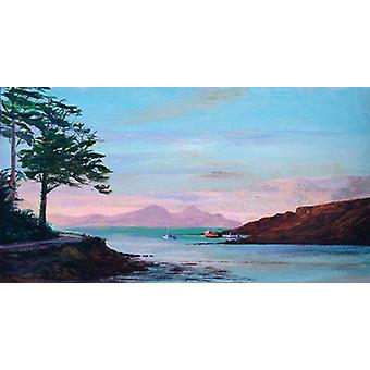 Ronnie Leckie print - Sunset Over Rhum
