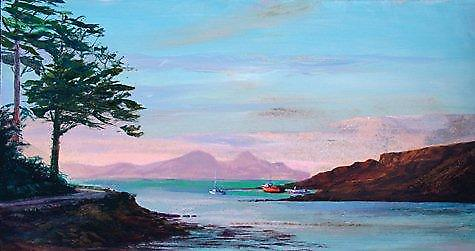 Ronnie Leckie afdrukken - Sunset Over Rhum