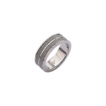 Herrel stainless steel ring with mesh design