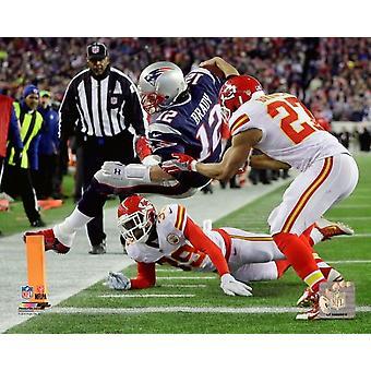 Tom Brady touchdown uitvoeren 2015 AFC afgesplitste Playoff Game Photo Print
