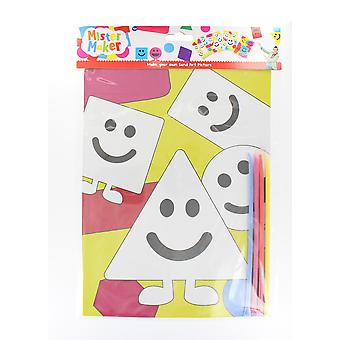 Children's Arts & Crafts Mister Maker Make Your Own Sand Art Sheet - Triangle