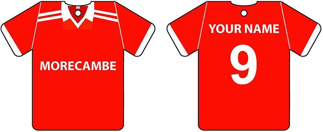 Ambientador de coche personalizado Morecambe Football camiseta
