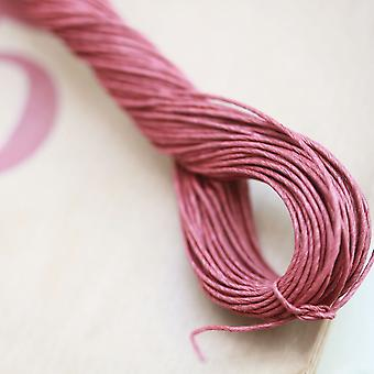 East of India Twisted Red Paper String for Vintage Style Labels & Wrapping 30m