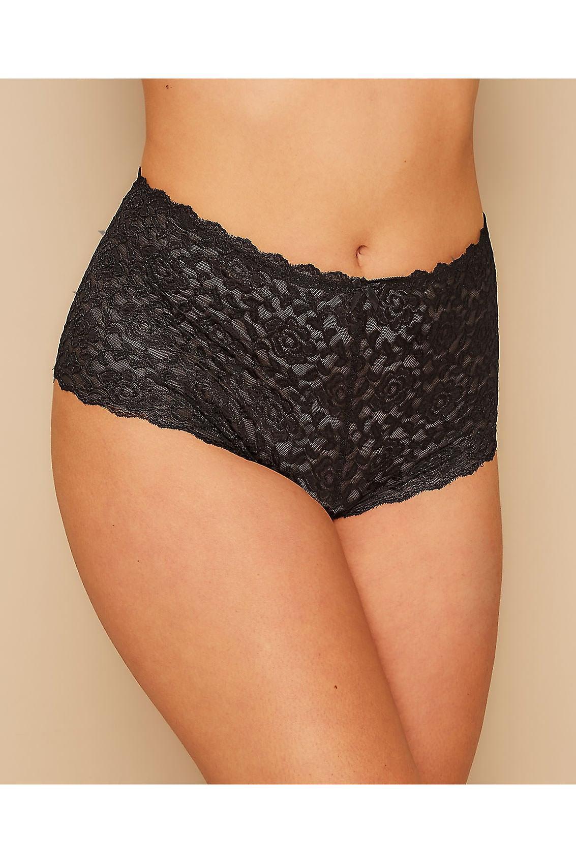 Black Shine Lace Shorts