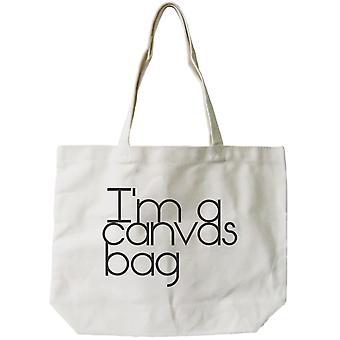 Wiederverwendbare Beutel der Frauen-ich bin ein Canvas Tasche umweltfreundliche natürliche Canvas Tote Bag
