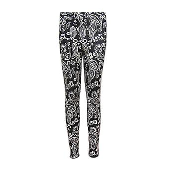 Black and White Paisley Leggings UK 6