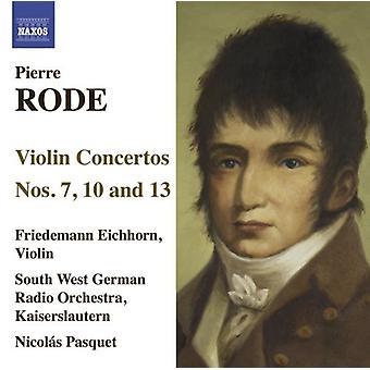 P. Rode - Pierre Rode: Violin Concertos, Nos. 7, 10 & 13 [CD] USA import