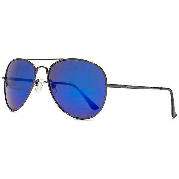 Steelfish Ace Aviator Sunglasses In Blue Revo