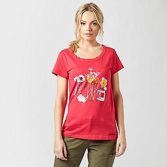 New Peter Storm Women's Jam Jar Travel Casual T-Shirt Pink