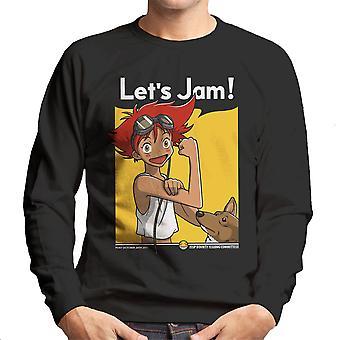 Jamming With Edward Cowboy Bebop Men's Sweatshirt