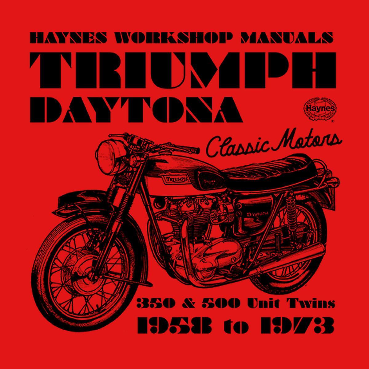 Haynes Owners Workshop Manual Triumph Daytona 350 500 Varsity jas voor mannen
