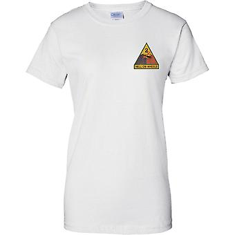 US Army 2nd Armored Division - Ladies Chest Design T-Shirt