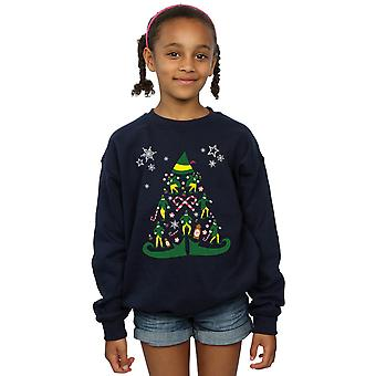Elf Girls Christmas Tree Sweatshirt