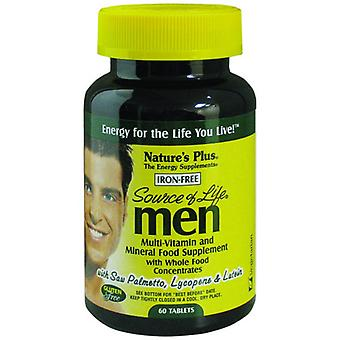 Natures Plus SOURCE OF LIFE MENS MULTI-VITAMIN 60(UK)