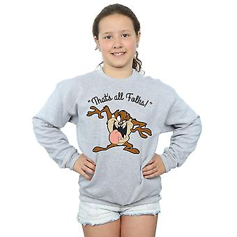 Looney Tunes Girls Taz That's All Folks Sweatshirt