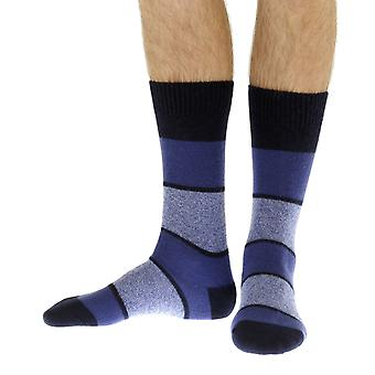 Kingston luxury men's cashmere dress socks in navy | By Pantherella