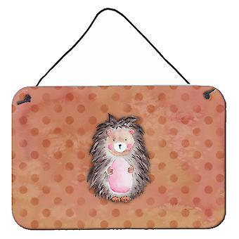 Polkadot Hedgehog aquarel muur of deur hangen Prints