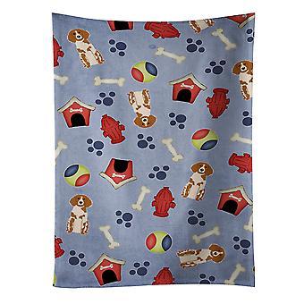 Perro casa colección Bretaña Spaniel toalla de cocina