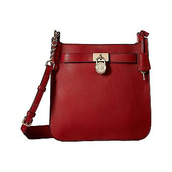Michael Kors Hamilton Medium Leather Messenger - Burnt Red - 30T7GHMM2L-361