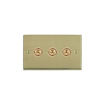 Hamilton Litestat Cheriton Victorian Polished Brass 3g 20AX 2Way Toggle PB