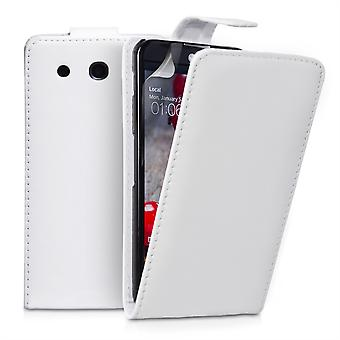 Yousave Accessories LG G Pro Leather-Effect Flip Case - White
