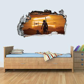 GNG Starwars Sunset Storm Smashed Wall Decal Poster 3D Art Stickers Vinyl Room
