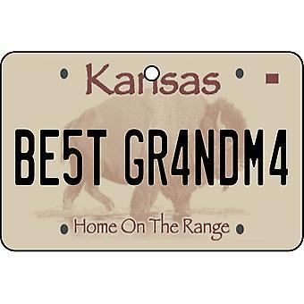 Kansas - bästa mormor licens plattan bil luftfräschare