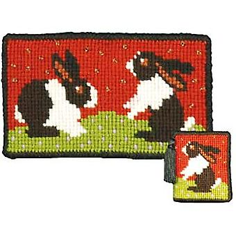 Rabbits Needlepoint Kit