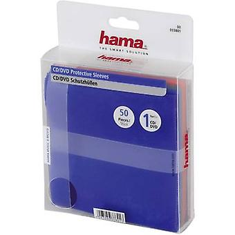 Hama CD Protective sleeves Green, Blue, Violet, Orange, Red 1 CD