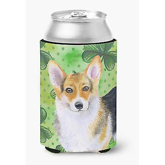 Carolines Treasures  BB9816CC Pembroke Corgi St Patrick's Can or Bottle Hugger