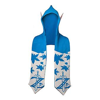 Legend of Zelda Twilight Princess Hooded Scarf With Ears Hooded Scarf Blue/White