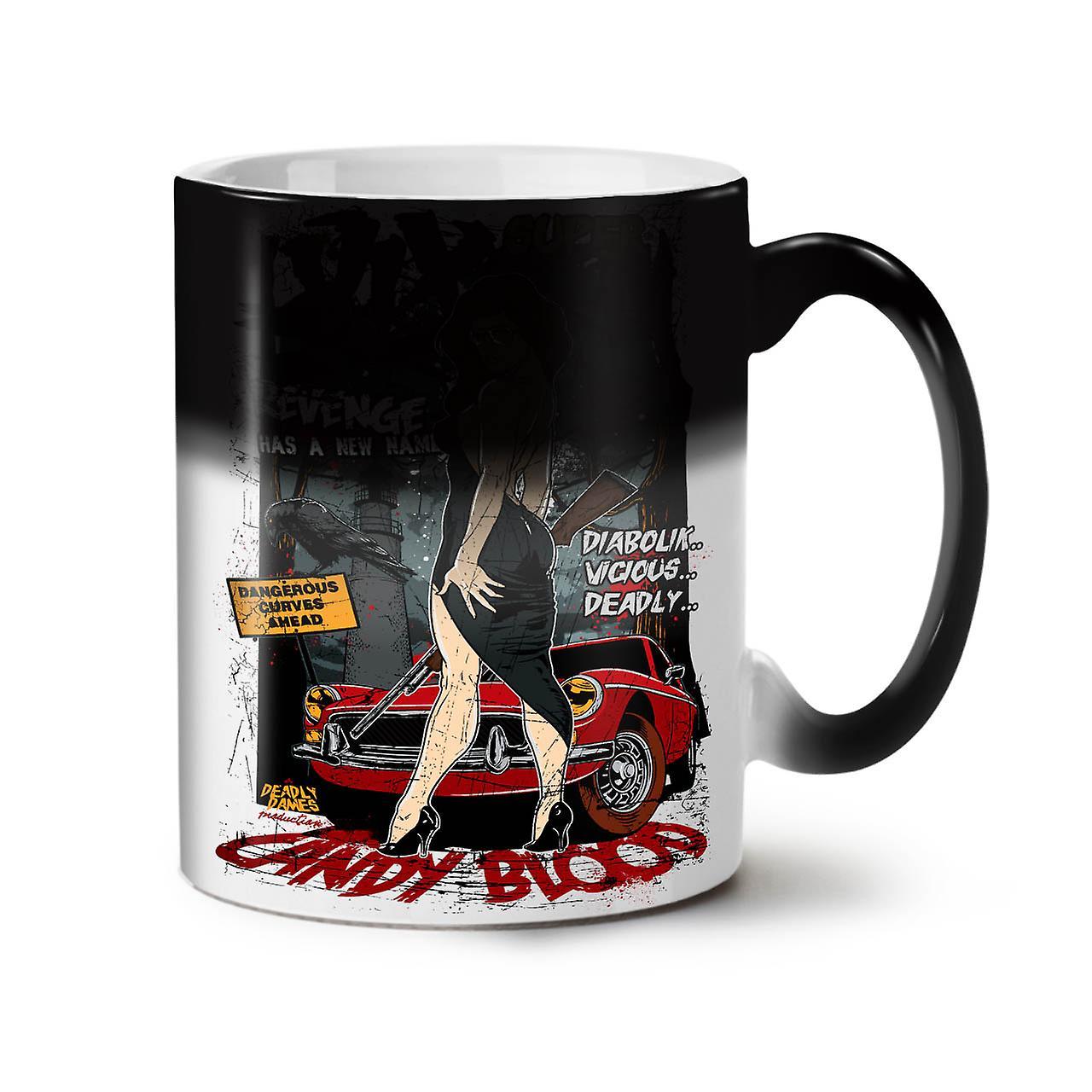 Girl Hot Blood Cool Sexy NEW Black Colour Changing Tea Coffee Ceramic Mug 11 oz | Wellcoda