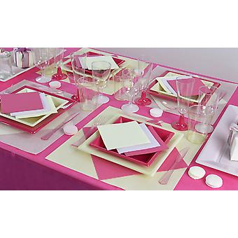 Party tableware set Lady party for 16 guests 305-teilig party package champagne pink party package
