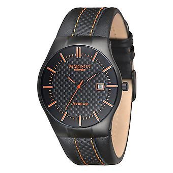 MADISON NEW YORK Unisex Watch wristwatch leather G4785A Avenue