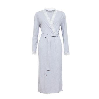 Cyberjammies 1290 kvinners Nora Rose Ava grå slåbrok Loungewear kappe badekåpe