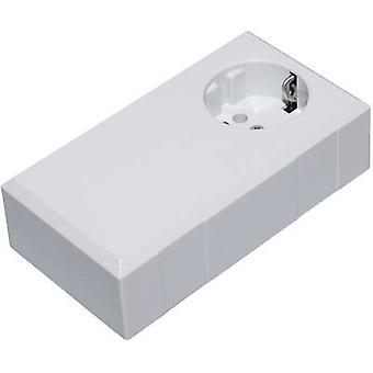 Connector housing 125 x 67 x 50 Polycarbonate (PC), Acrylonitrile butadiene styrene Light grey Conrad Components ESO 1250 E 1 pc(s)