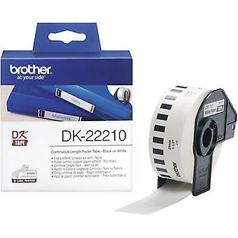 Brother DK-22210 Label roll 29 mm x 30.48 m Paper White 1 Rolls Permanent DK22210 All-purpose labels