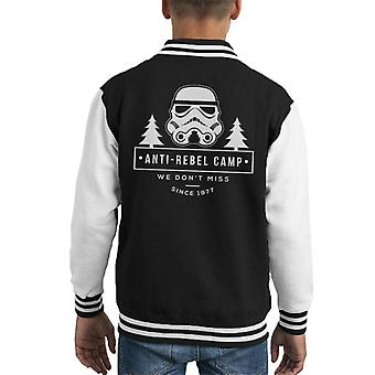 Original Stormtrooper Anti Rebel Camp Kid's Varsity Jacket