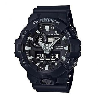 G-Shock Ga-700-1ber Black Rubber Alarm Chronograph Men's Watch